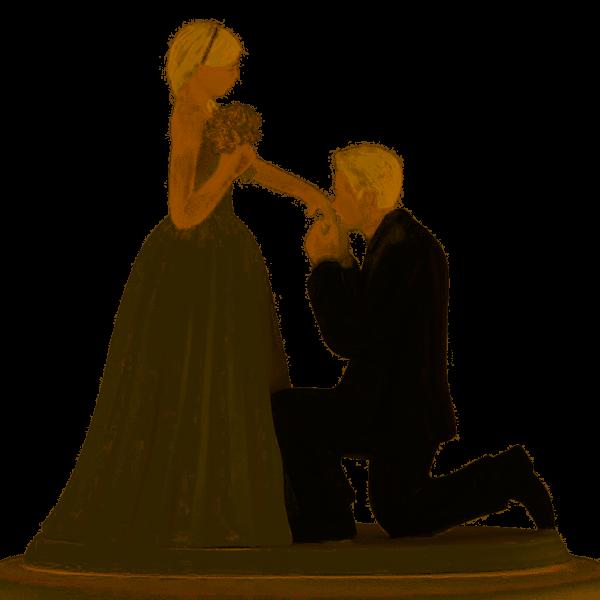 Tortenfigur Cinderella Moment