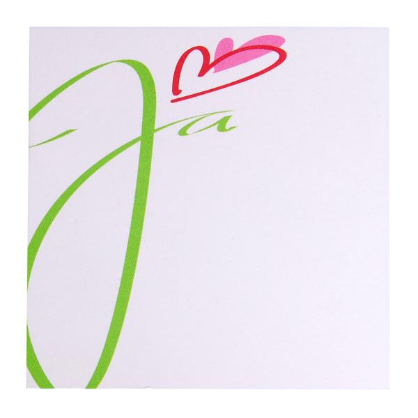 Tischkarte - JA (1 Stück)