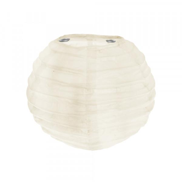 Laterne / Lampion rund 10 cm - creme (2 Stück)