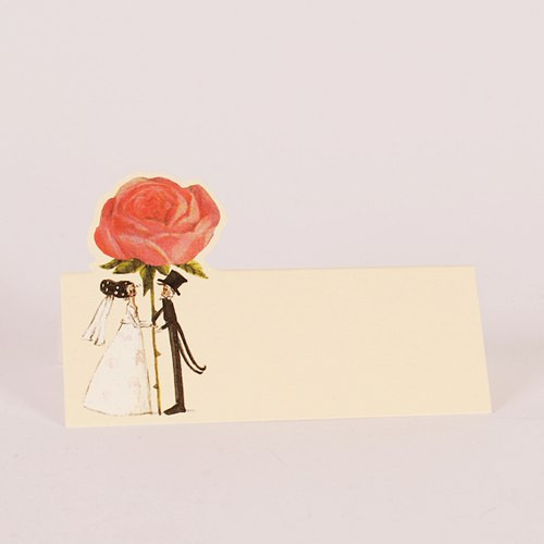 Silke Leffler Tischkarte 'Rose' (1 Stück)