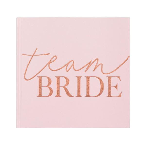 Blush Party Gästebuch Team Bride 21 x 21 cm
