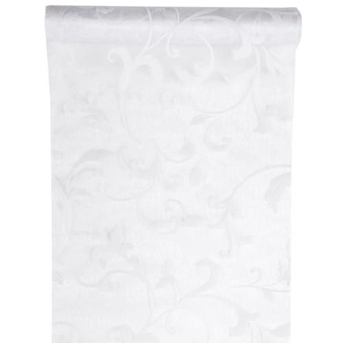 Tischläufer Arabesk 28 cm x 5 m - weiß