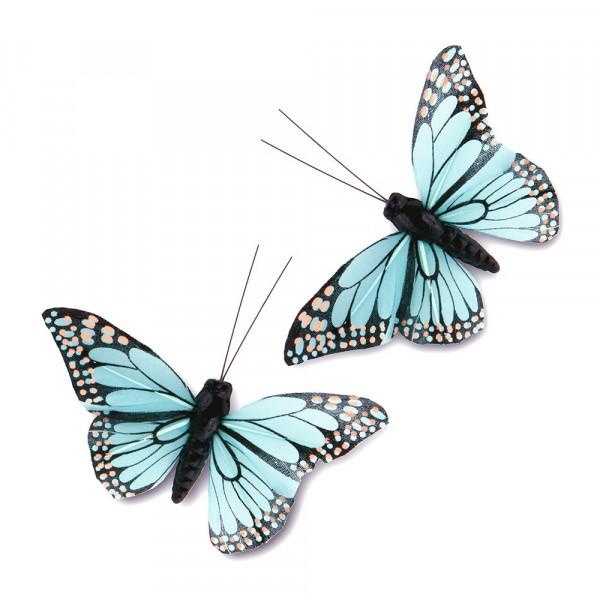 Schmetterlinge türkis (12 Stück)