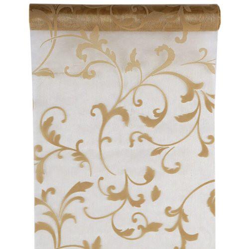 Tischläufer Arabesk 28 cm x 5 m - gold