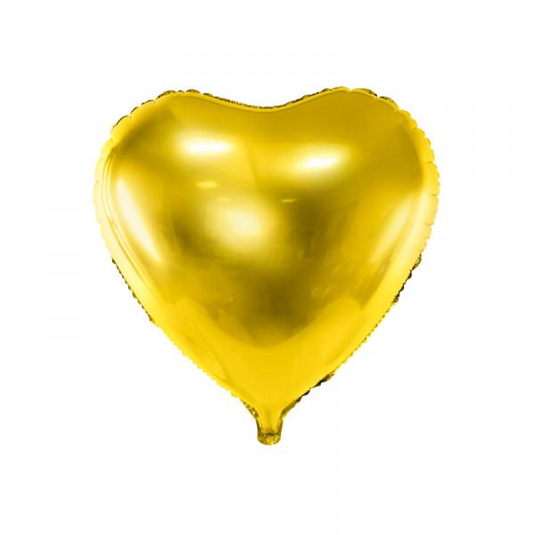 Folienballon Herz 45 cm - gold