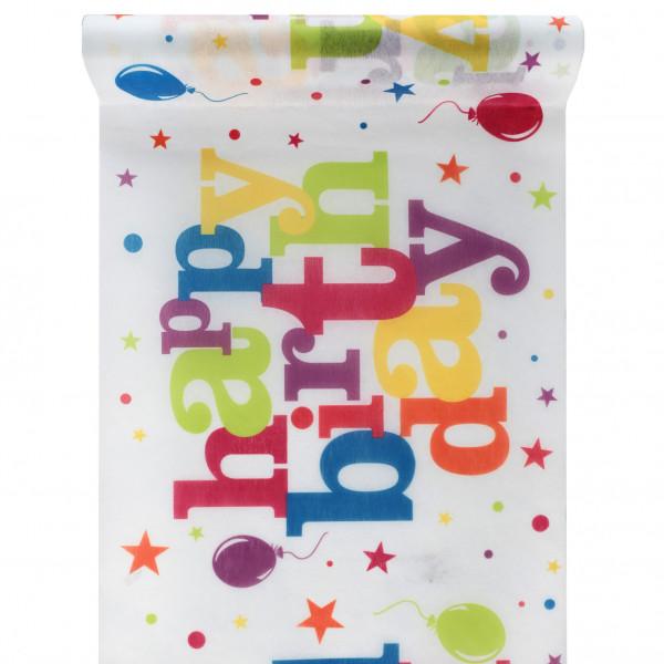 Tischläufer Happy Birthday / Geburtstag - bunt