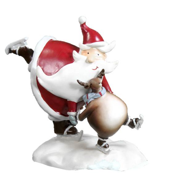 Weihnachtsfigur Nikolaus und Rentier