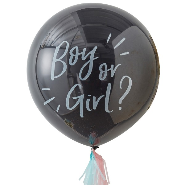 Gender Reveal Ballon 'Boy or Girl' 91 cm