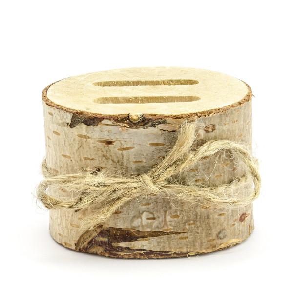 Ringhalter Baumstamm aus Holz