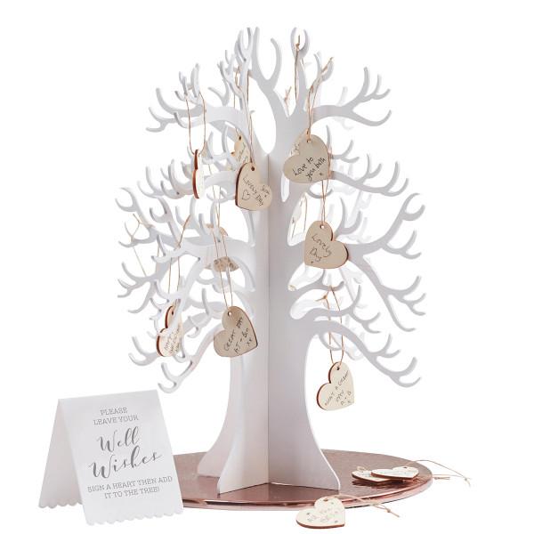 Glückwunschbaum mit Herzen, Alternative zum Gästebuch