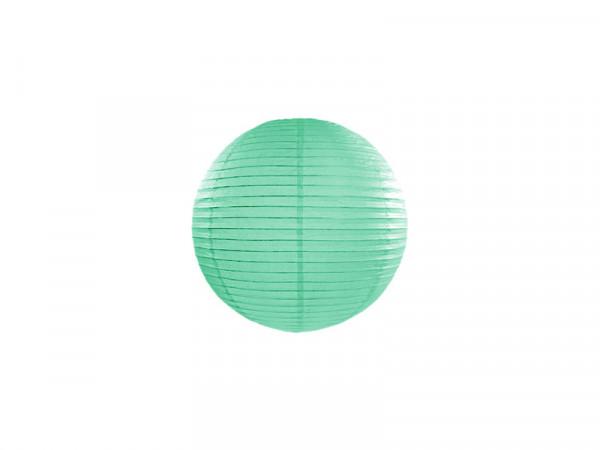 Laterne / Lampion rund 20 cm mint