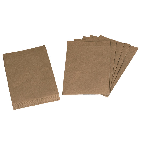 24 Flachbeutel / Tüten Kraftpapier 13 x 18 cm