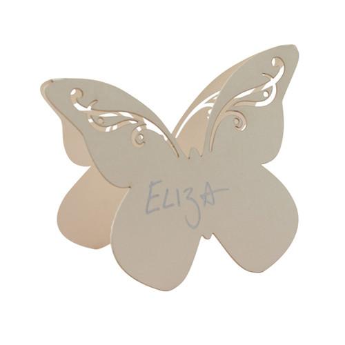 Tischkarte 'Schmetterling' (10 Stück) - creme