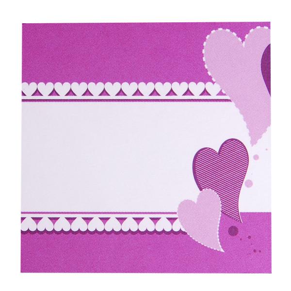Tischkarte - Herzen (1 Stück)