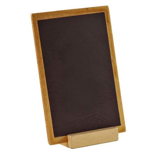 Tafel zum Stellen 10 x 15 cm - gold