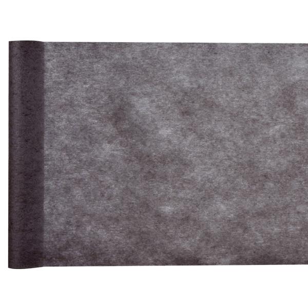 Tischläufer Vlies 30 cm x 25 m - schwarz