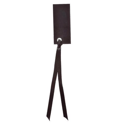 Tischkärtchen mit Satinband (12 Stück) - schwarz