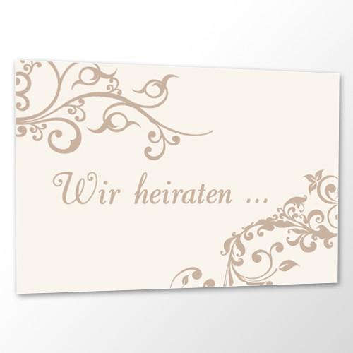 Save the Date Karte Hochzeit - Ornament