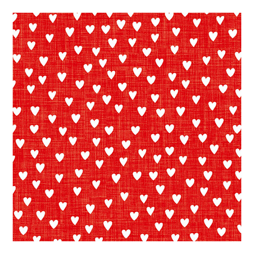 Servietten Herzchen (20 Stück) - rot