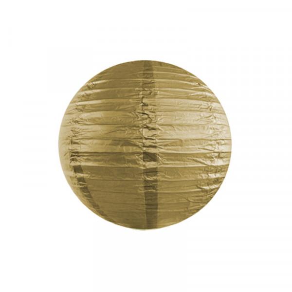 Laterne / Lampion rund 20 cm gold