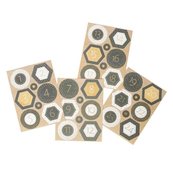 Adventsaufkleber / Sticker 'Sternennacht'