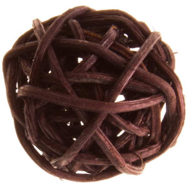 Rattankugeln (12 Stück) 3 cm - braun