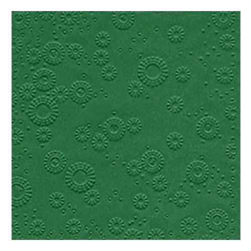 Servietten Moments geprägt (16 Stück) - grün