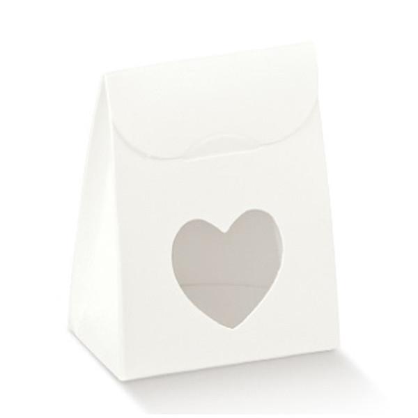 Kartonage 'Sacchetto' Herz - weiß