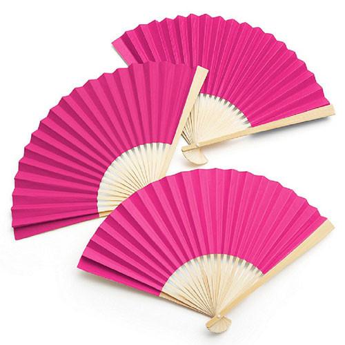 Fächer (1 Stück) - pink