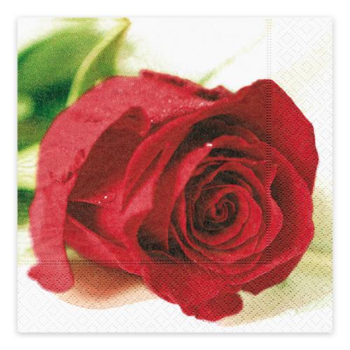 Servietten Rote Rose (20 Stück)