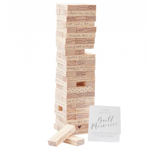 Holzturm 36 cm, Alternative zum Gästebuch