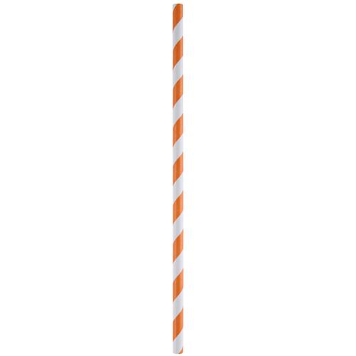 Strohhalme / Trinkhalme 'Streifen' (20 Stück) - orange