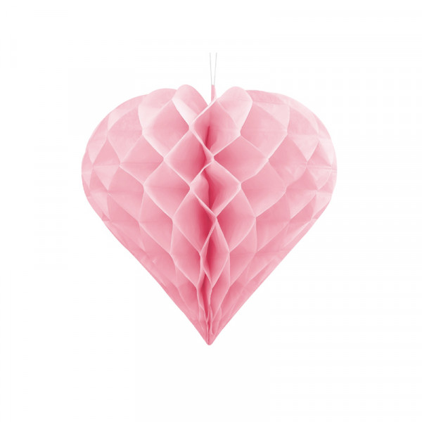 Herz Honeycomb / Wabenball Rosa 30 cm