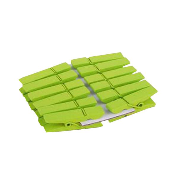 Klammern (12 Stück) - hellgrün
