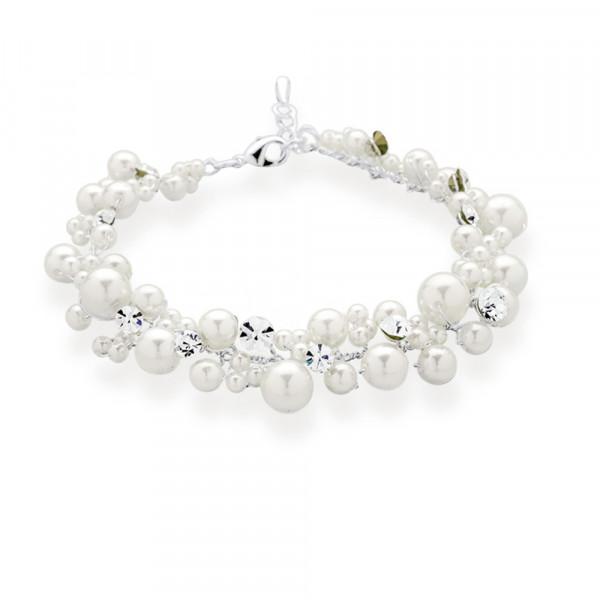 Armband 'Pya' mit Perlen & Strasssteinen