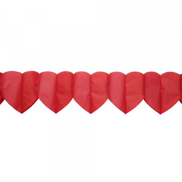 Girlande 'Herz' 3,25 m - rot
