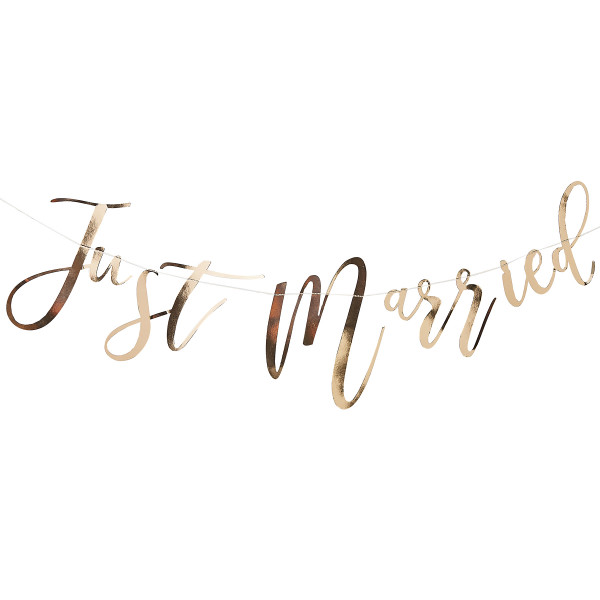 Girlande 'Just Married' - gold