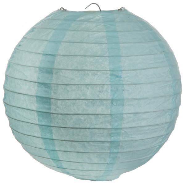 Laterne / Lampion rund 30 cm - hellblau (2 Stück)