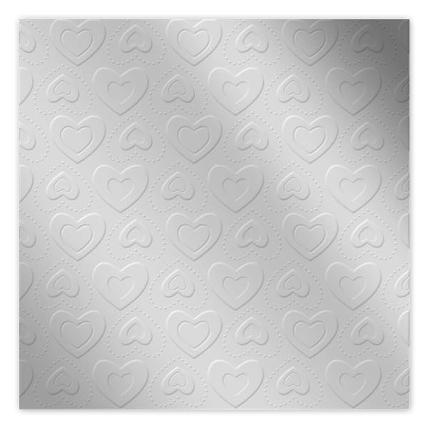 Servietten Herzen geprägt (16 Stück) - silber