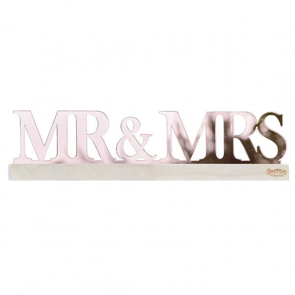 Pampas Wedding Aufsteller Mr & Mrs - roségold
