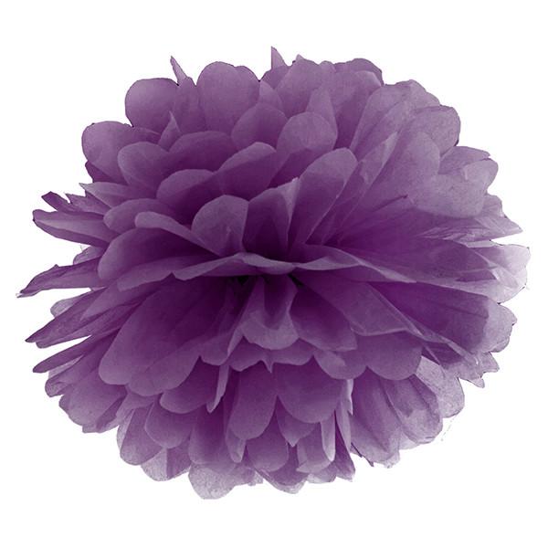 Pompom 35 cm lila