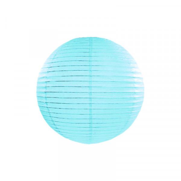 Laterne / Lampion rund 20 cm hellblau