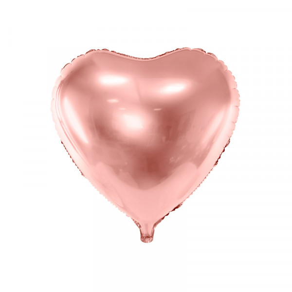 Folienballon Herz 45 cm - roségold