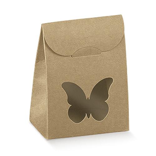 Kartonage 'Sacchetto' Schmetterling - kraft