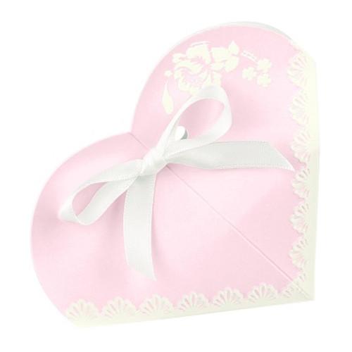 Kartonage 'Herz' Shabby Chic - rosa