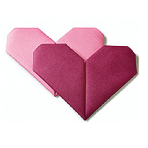Dinnerservietten Origami Herz (12 Stück) - lila & rosa