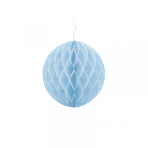 Wabenball 20 cm hellblau