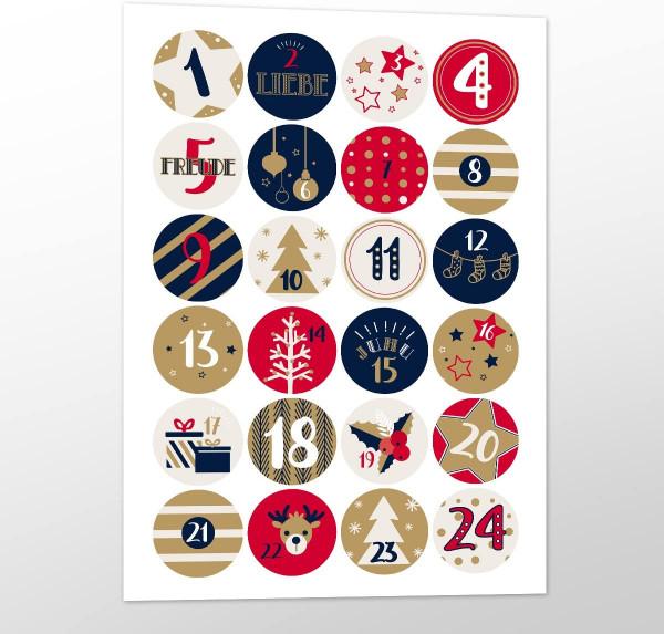 Adventsaufkleber / Sticker 'Joyful Christmas'