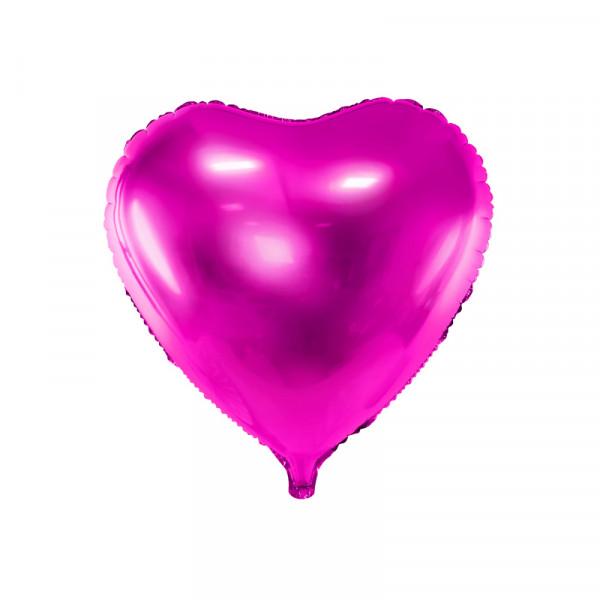 Folienballon Herz 45 cm - pink
