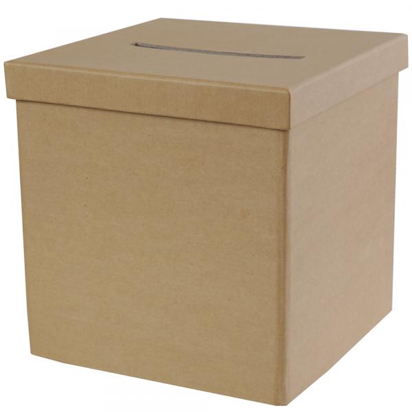 Briefbox / Geschenkbox 20 x 20 cm - Kraft